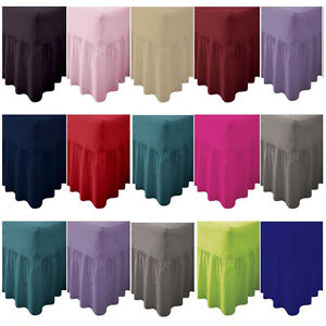 Pecale Fitted Valance Sheet OR Fitted Bed Non Iron Single Double Super King Size