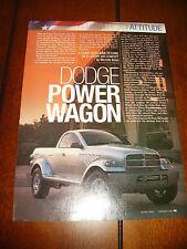 1999 Dodge Power Wagon 4X4 Concept Truck *Original Article*