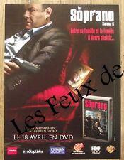 Publicité Les Soprano, saison 6 ,  2007,  clipping