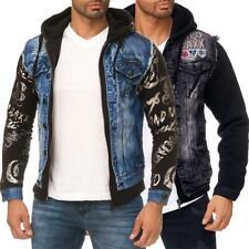 Cipo & Baxx Herren Jeans Jacke Denim Style Streetwear Dope Swag Aufnäher Used