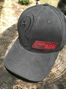 Precision Turbo & Engine Black Embroidered Stretch Cap/Hat Size L/XL New!