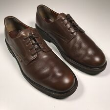 Mephisto Men's Sz 10 Shoes Brown Pebbled Leather Plain Toe Oxford Casual Dress