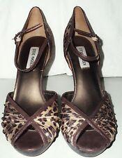 Steve Madden MAGIEE Shoes 9 M Pumps Heels Fabric Leopard Print Buckle Strap