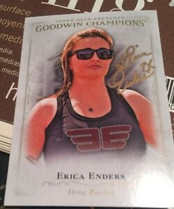 2016 Upper Deck Goodwin Champions Erica Enders Autograph Drag Racing