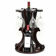 Wooden Wine Bottle - Glass Holder Display Stand Storage Novelty Home Party Decor