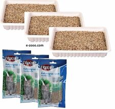 3 Piece Barley Grass for Cats, Bowl Or Refill Pack, 3 X 3.5oz Savings Package