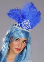 Royal Blue Feather Showgirl Headdress