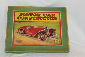 Meccano No.1 Motor Constructor Car In Original Box With Instruction Book