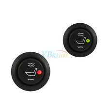 2x Car Seat Heater Switch Universal 3 Pin Round Heated Rocker Hi Low Off Control