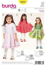 BURDA SEWING PATTERN KIDS DRESS WITH DOUBLE SKIRT SIZE 18M - 6 YRS 9375