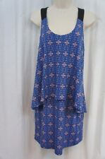 BCBG BCBGeneration Dress Sz S Ocean Blue Multi Sleeveless Cocktail Party Dinner