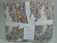 Pottery Barn Melody Paisley Floral King Quilted Sham  #2010