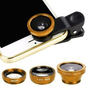 Universal Mobile Phone Camera Lens Set Kit Clip Macro Wide Fish eye Professional