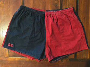 Canterbury Stubbies Navy Maroon Size 40 Cotton Mens Shorts