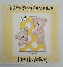 Personalised 1st Birthday Card Granddaughter Daughter Goddaughter Niece Sister