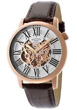 Rotary Quartz (Automatic) Genuine Leather Strap Wristwatches