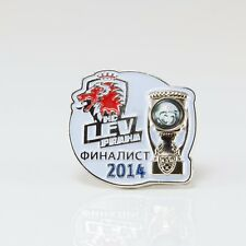 KHL Lev Prague finalist of Gagarin Cup 2014 pin, badge, lapel, hockey