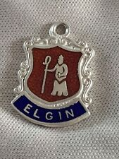 ELGIN Silver Travel Shield Enamel Charm
