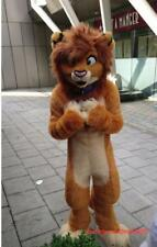 Carnival Brown Lion Mascot Costume king of forest cos party dress Adults size