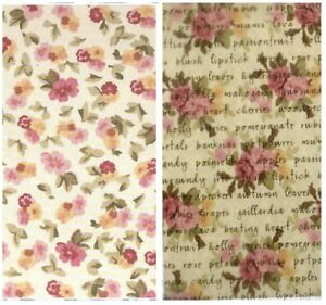 LAURA ASHLEY FLORALS ~  12 X 12 PAPERS PLUS EMBELLISHMENTS ~ PINK / BLUE / WINE