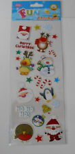 FUN STICKERS -CHRISTMAS  SANTA STAMP STICKERS FOR CARDS AND CRAFTS