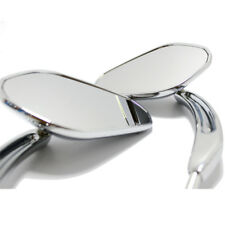 Chrome Motorcycle Rear View Side Mirrors For Harley Davidson Cruiser Touring MT