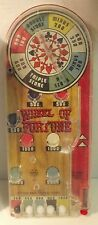 Vintage 1950's Marx Tabletop Wheel Of Fortune Pinball Game Made In USA