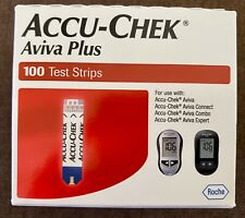 Accu-Chek Aviva Plus Test Strips 100 Count Factory Sealed Exp 09/30/2021