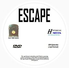 ESCAPE - 229 Shows Old Time Radio In MP3 Format OTR On 1 DVD
