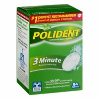 Polident 3-Minute Denture Cleanser 84 Tablets Cleaner Antibacterial Pack of 1