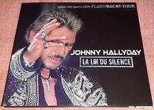 JOHNNY HALLYDAY RARE CD PROMO POCHETTE OUVRANTE LA LOI DU SILENCE