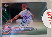 2018 Topps Chrome Green Wave Autograph #RA-JC JP Crawford RC Ser #30/99 Phillies