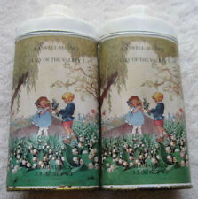 2 Caswell-Massey Lily of the Valley Floral Talc Powder Dust 3.5oz100g Tin Duster