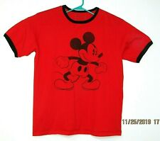 Disney Store Original Mickey Mouse Red T Shirt Size XL Mens Unisex Ringer Sleeve