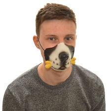 MEZZA faccia cane e osso divertente Costume Maschera Di Lattice Per Bambini & Adulti Halloween
