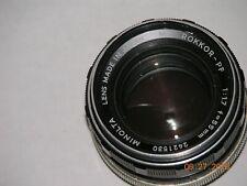 Vintage Minolta MC Rokkor-PF 50mm 1:1.7 Camera Lens W/ daylight filter