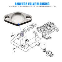 1x Piastra per blocco cieco valvola EGR Guarnizione Vite per BMW E38 E46 E90 318
