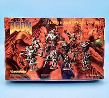 DOOM Reaper Pewter Miniatures Figure Set of 15 Mini Statue Doomguy Cacodemon