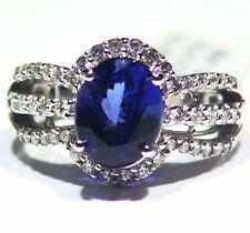 4.36CT 14K Gold Natural Tanzanite Diamond Vintage AAA Art Deco Engagement Ring