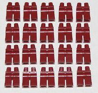 LEGO LOT OF 20 NEW PLAIN DARK RED PANTS MINIFIGURE LEGS PARTS