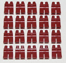 LEGO LOT OF 20 NEW PLAIN DARK RED PANTS MINIFIGURE LEGS PARTS