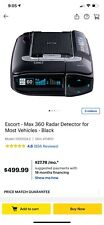 Escort Max 360 Radar/Laser Detector Includes MultaRadar Detection