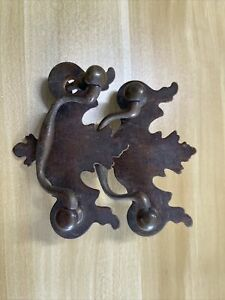 2 brass chippendale style 3 inch bail pulls handled hardware