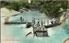 1908. FISH TRAP, NEW CAMBRIA, MISSOURI. POSTCARD SL10