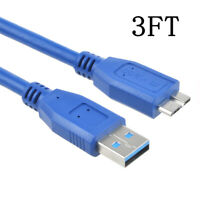3ft USB PC Cable Cord For Seagate Expansion External Hard Drive 5TB STEB5000100