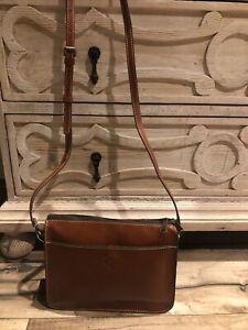 ✅NWT PATRICIA NASH Nazaire Top Zip Veg Tan Brown Leather Crossbody Bag ~ $169 👜
