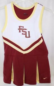NEW Youth Girls Nike FSU Seminoles 2 pc Cheerleader Cheer Outfit Bloomers