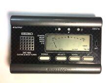 Seiko SAT500 SAT100 Guitar & Bass Tuner Handheld With Batteries