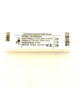 LED Driver 9w-15w 270ma Constant Current Led Driver (DC) 30-50v SD-15WLED-A