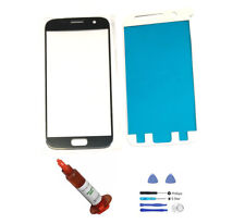 Black Onyx Front Glass Lens Replacement LCD Screen Repair Kit Fit Galaxy S7 G930